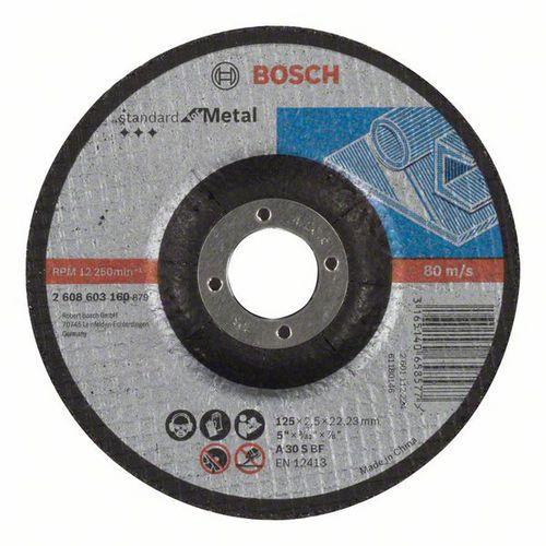 Bosch - Řezný kotouč profilovaný Standard for Metal A 30 S BF, 125 mm, 22,23 mm, 2,5 mm, 50 BAL