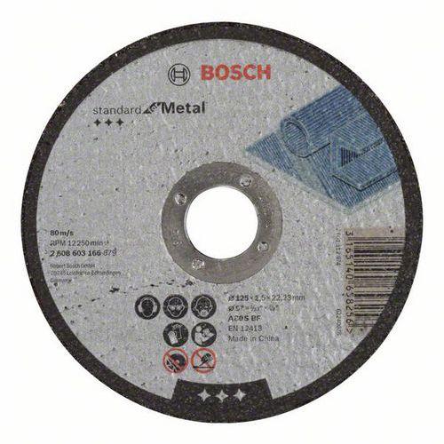 Bosch - Řezný kotouč rovný Standard for Metal A 30 S BF, 125 mm, 22,23 mm, 2,5 mm, 50 BAL