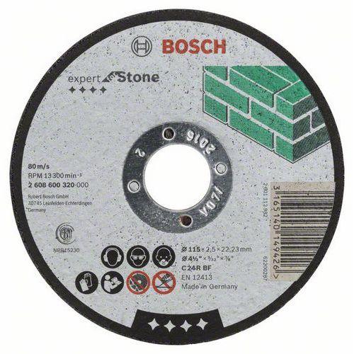 Bosch - Řezný kotouč rovný Expert for Stone C 24 R BF, 115 mm, 2,5 mm, 25 BAL
