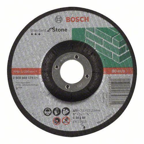 Bosch - Řezný kotouč profilovaný Standard for Stone C 30 S BF, 125 mm, 22,23 mm, 2,5 mm, 50 BAL