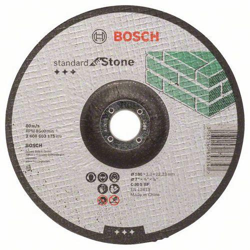 Bosch - Řezný kotouč profilovaný Standard for Stone C 30 S BF, 180 mm, 22,23 mm, 3,0 mm, 40 BAL