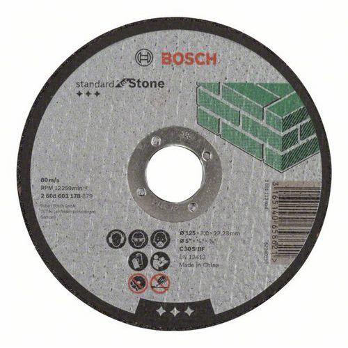 Bosch - Řezný kotouč rovný Standard for Stone C 30 S BF, 125 mm, 22,23 mm, 3,0 mm, 50 BAL