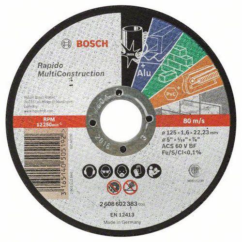 Bosch - Řezný kotouč rovný Rapido Multi Construction ACS 46 V BF, 125 mm, 1,6 mm, 25 BAL