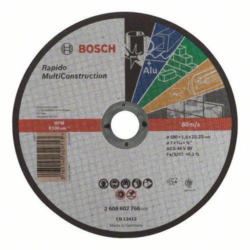Bosch - Řezný kotouč rovný Rapido Multi Construction ACS 46 V BF, 180 mm, 1,6 mm, 25 BAL