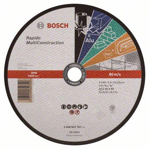 Bosch - Řezný kotouč rovný Rapido Multi Construction ACS 46 V BF, 230 mm, 1,9 mm, 25 BAL