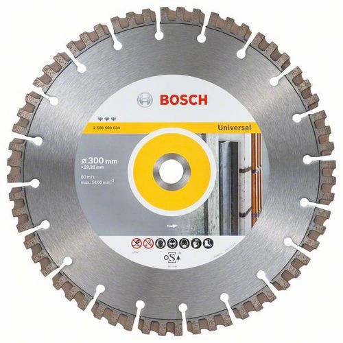 Bosch - Diamantový řezný kotouč Best for Universal 300 x 22,23 x