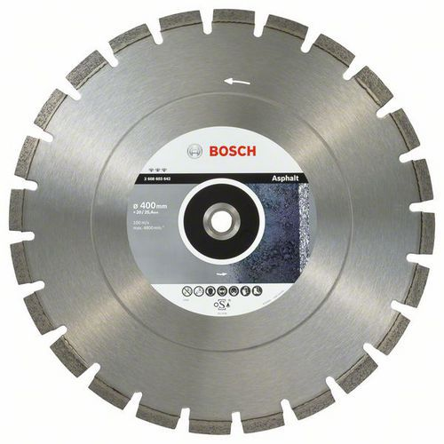Bosch - Diamantový řezný kotouč Best for Asphalt 400 x 20/25,40 x 3,2 x 12 mm