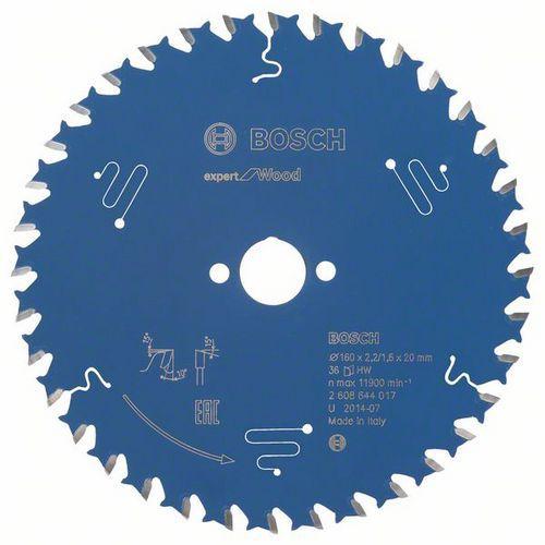 Bosch - Pilový kotouč Expert for Wood 160 x 20 x 2,2 mm, 36