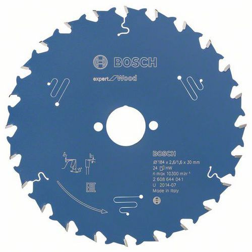 Bosch - Pilový kotouč Expert for Wood 184 x 30 x 2,6 mm, 24