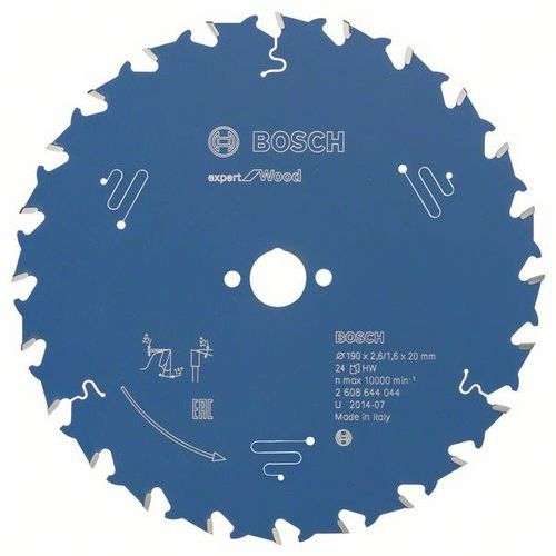 Bosch - Pilový kotouč Expert for Wood 190 x 20 x 2,6 mm, 24