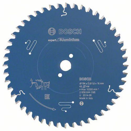Bosch - Pilový kotouč Expert for Aluminium 184 x 16 x 2,6 mm, 48