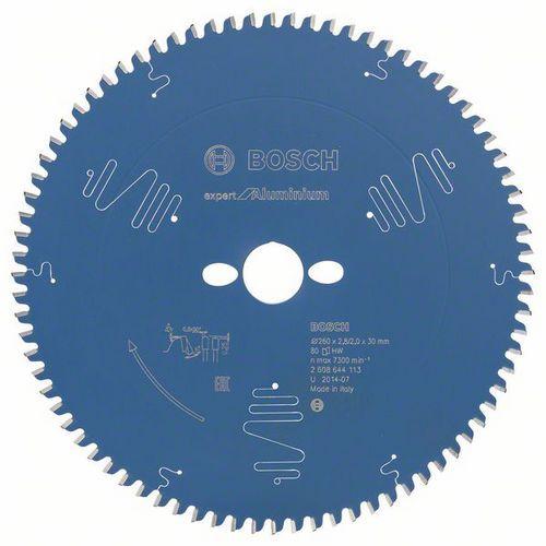 Bosch - Pilový kotouč Expert for Aluminium 260 x 30 x 2,8 mm, 80