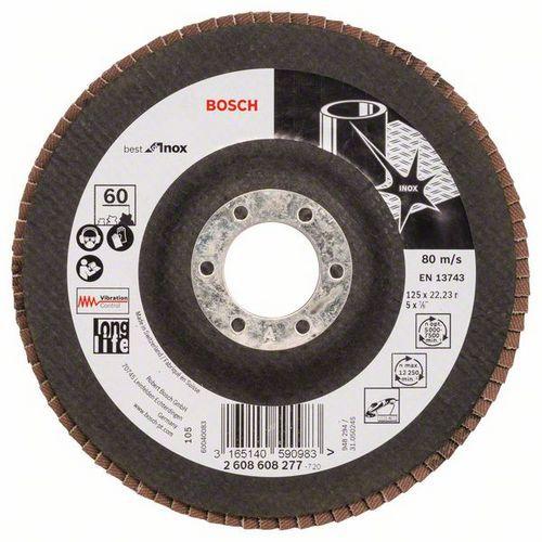 Bosch - Lamelový brusný kotouč X581, Best for Inox 125 mm, 22,23