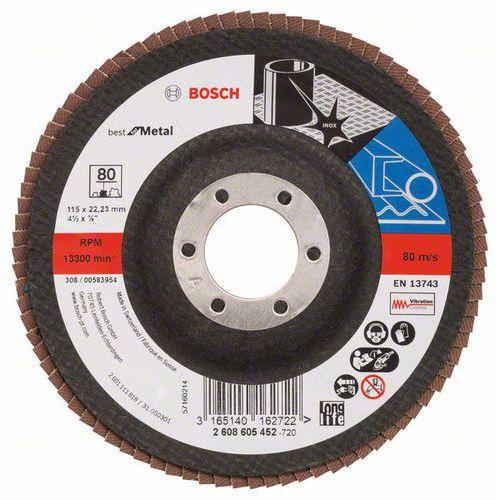 Bosch - Lamelový brusný kotouč X571, Best for Metal 115 mm, G80,