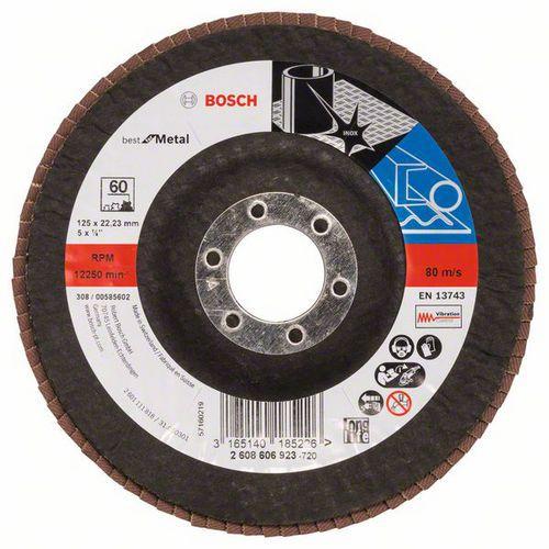 Bosch - Lamelový brusný kotouč X571, Best for Metal 125 mm, G60,