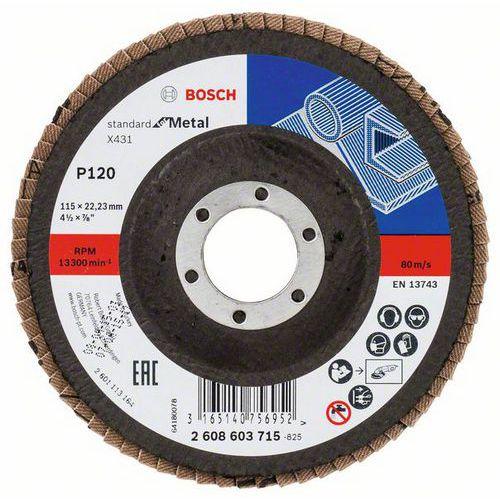 Bosch - Lamelový brusný kotouč X431, Standard for Metal 115 mm,
