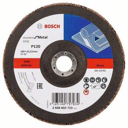 Bosch - Lamelový brusný kotouč X431, Standard for Metal 180 mm,