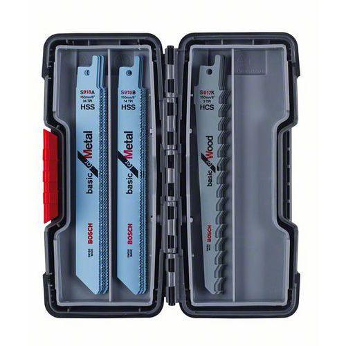 Bosch - 15dílná sada pilových plátků do pil ocasek Wood and Meta