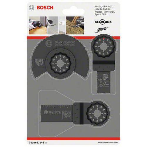 Bosch - 3dílná univerzální sada Segmentový pilový kotouč HCS Woo