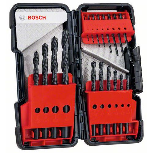 Bosch - 18dílná sada vrtáků do kovu Toughbox HSS-R, 118° 1; 1,5;