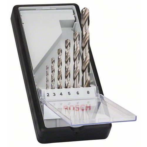 Bosch - Sada vrtáků do kovu Robust Line HSS-G, 6dílná, 135° 2; 3; 4; 5; 6; 8 mm, 135°