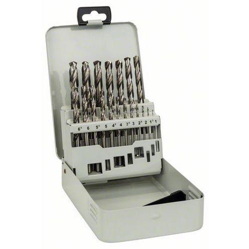 Bosch - Kovová kazeta s 19dílnou sadou vrtáků do kovu HSS-G, DIN 338, 135° 1-10 mm, 135°, 19ks