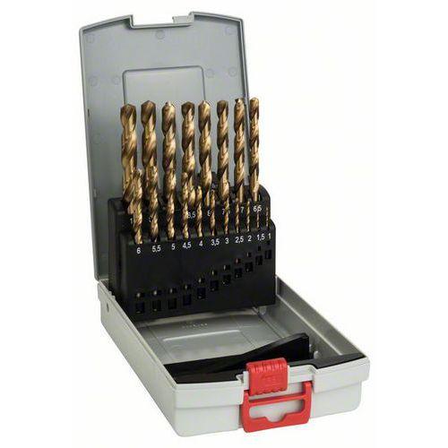 Bosch - 19dílná sada vrtáků do kovu ProBox HSS-TiN (titanový pov