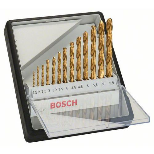 Bosch - 13dílná sada vrtáků do kovu Robust Line HSS-TiN, 135° 1,5; 2; 2,5; 3; 3,2; 3,5; 4; 4,5; 4,8; 5; 5,5; 6; 6,5 mm, 135°