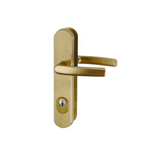 Bezpečnostní dveřní kování, rozteč 90 mm, klika/klika, bronzové