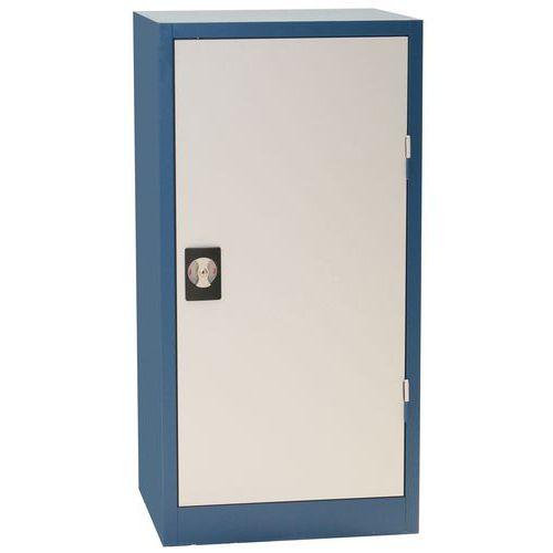 Kovová dílenská skříň Manutan, 106 x 53 x 45 cm, šedá/modrá