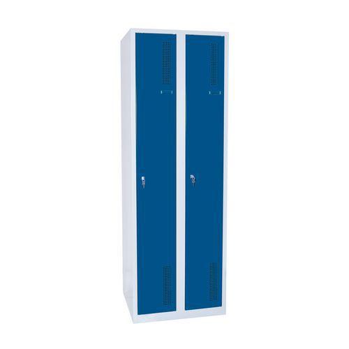 Svařované šatní skříně DURO SAFE, 2 oddíly