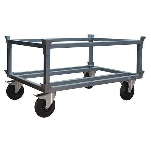 Podvozek pro palety Manutan Acier, 120 x 80 cm, do 500 kg