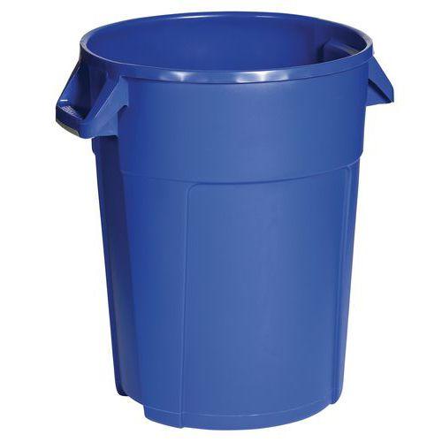 Plastový odpadkový koš Manutan Pure, objem 85 l, modrá