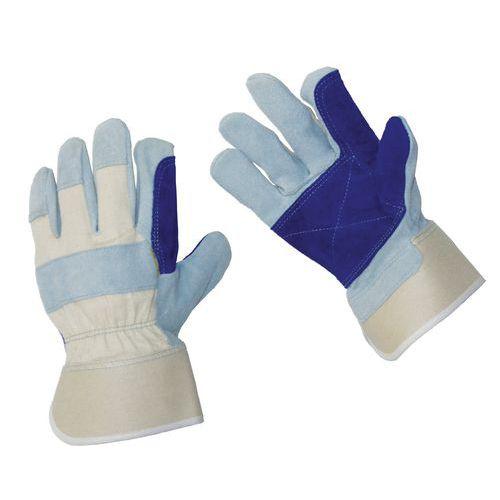 Kožené rukavice Manutan, modré