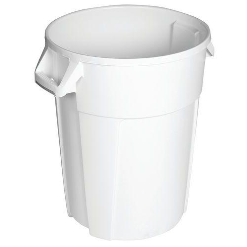 Plastový odpadkový koš Manutan Pure, objem 85 l, bílá
