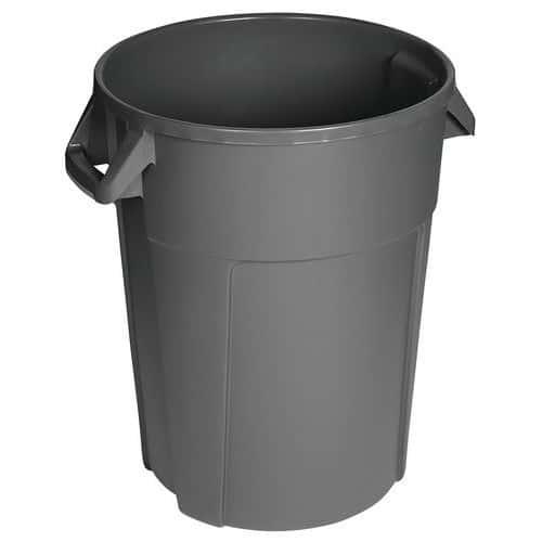 Plastový odpadkový koš Manutan Pure, objem 85 l, šedá