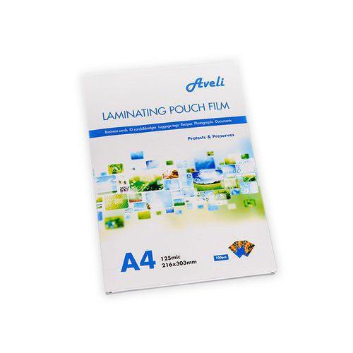 Laminovací fólie AVELI A4/250mic (2x125), lesklé, 100 ks