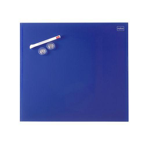 Skleněná magnetická tabule modrá 30x30 cm