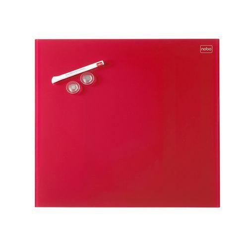 Skleněná magnetická tabule červená 45x45 cm