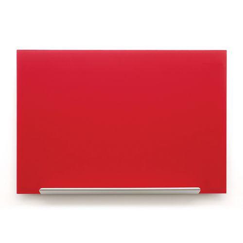 Skleněná tabule Diamond glass 126x71,1 cm, červená