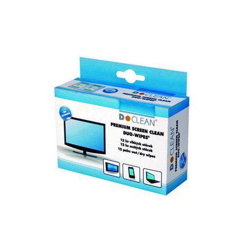 Čisticí utěrka D-CLEAN na LCD monitory, 24 ks