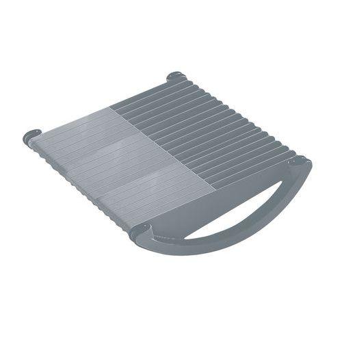 Oboustranná nožní opěrka Twinco, šedá