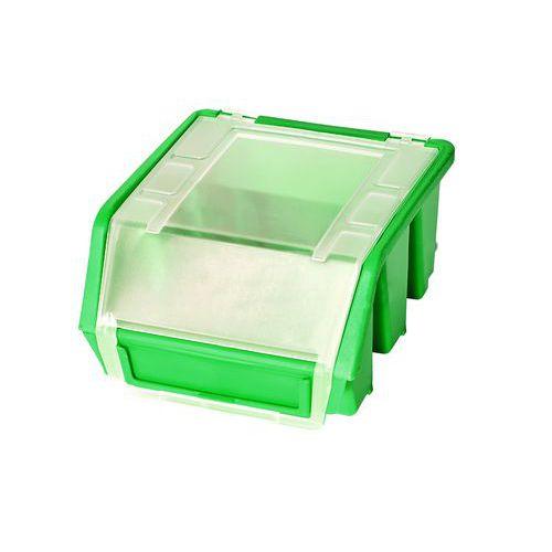 Plastový box Ergobox 1 Plus 7,5 x 11,6 x 11,2 cm, zelený