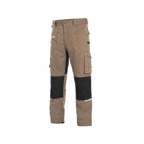 Kalhoty CXS STRETCH, pánské, béžovo-černé, vel. 62