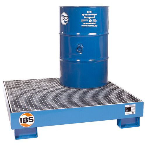 Ocelová záchytná vana IBS H20 s roštem, pro 4 sudy