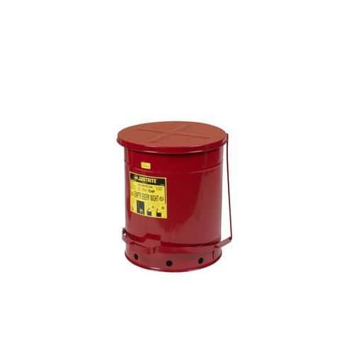 Kovové odpadkové koše pro hořlavé a nebezpečné látky, objem 53 l