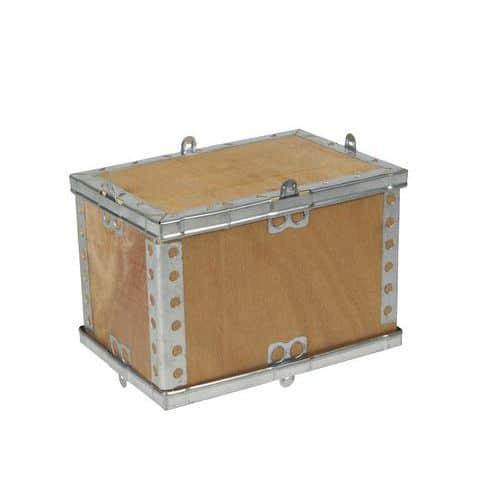 Dřevěný přepravní box s víkem, 20 x 20 x 30 cm
