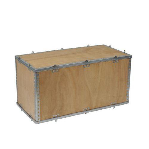Dřevěný přepravní box s víkem, 40 x 40 x 80 cm