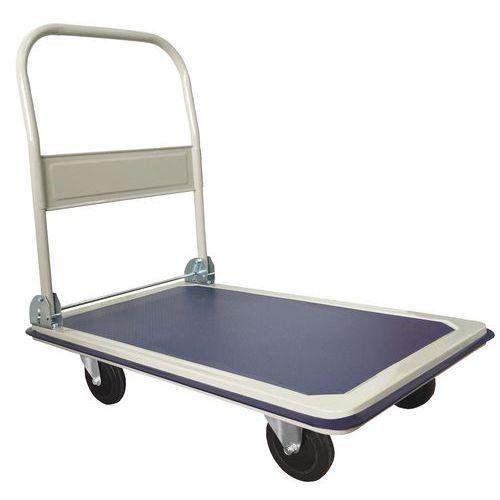 Plošinový vozík se sklopným madlem Manutan, do 300 kg