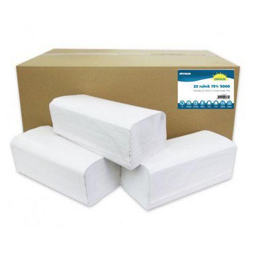 Papírové ručníky ZZ White S 1vrstvé, 250 útržků, bílé, 20 ks
